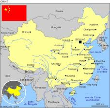 chine carte politique